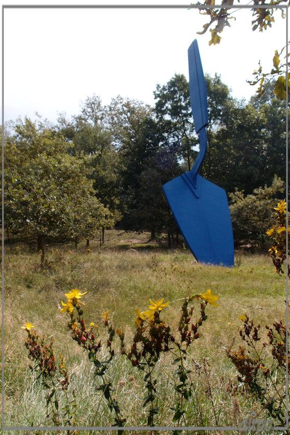 Blauwe schep
